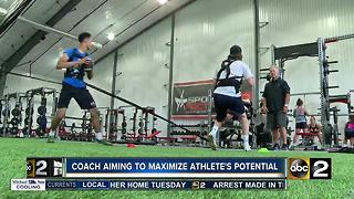 Sports performance coach aiming to maximize Maryland athlete's potential - Video