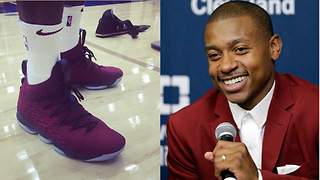 Isaiah Thomas Tried to JACK a Pair of LeBron James' New 15s - Video