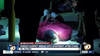 Passenger in El Cajon chase arrested after breaking into apartment