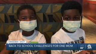Back to school challenges for one mom
