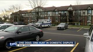 Domestic disturbance at Oak Creek apartment complex leaves 1 dead, 1 injured - Video