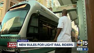 Bad behavior to get light rail riders kicked off - Video