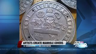 Community works to create public art manhole covers - Video