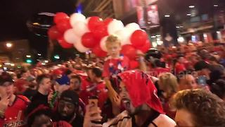 Fans take to the streets to celebrate Washington Capitals' Stanley Cup victory - Video