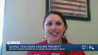Push to move teachers to higher vaccine priority group
