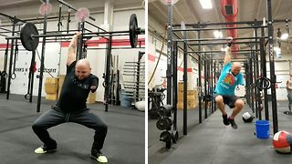 Amputee turns life around by swapping alcohol and drugs for crossFit to medicate his nerve pain - Video