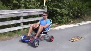 Hoverboard Converted Into Go Kart - Video