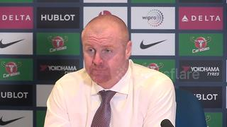 Burnley manager discusses his wife's shopping list
