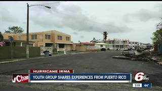 Youth group shares experiences from Puerto Rico
