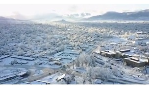 Drone Captures Spectacular View of Snow-Covered Medford, Oregon - Video