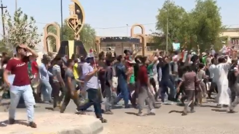 Demonstrators in Kut Chant for Peaceful Protests, Better Services
