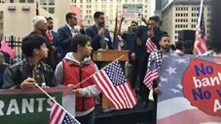 Hundreds Gather in Downtown Detroit to Protest Travel Ban