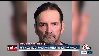 Man accused of fondling himself has history of similar charges - Video