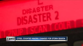 Cities, counties making changes for storm season - Video
