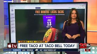 Free taco at Taco Bell today - Video