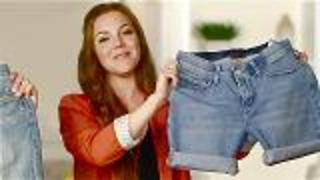 DIY Cuffed Denim Shorts in 4 Minutes! - Video