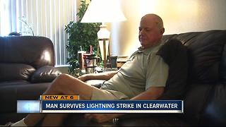 EXCLUSIVE: Clearwater golfer survives being struck by lightning - Video