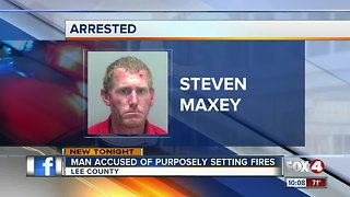 Arson arrest made when firefighters find man setting fire