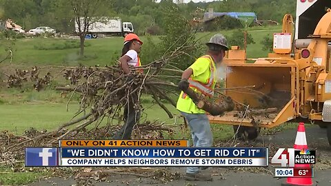 KC company helps tornado victims with free debris clean up