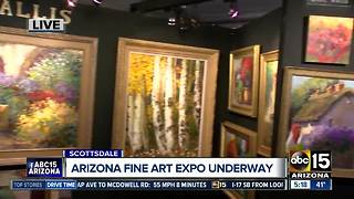 Arizona Fine Art Expo underway in Scottsdale - Video