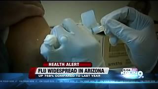 Flu cases widespread in Arizona with almost 3,000 cases - Video