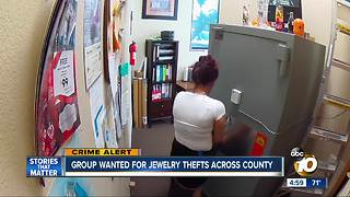 Group wanted for jewelry thefts across county - Video
