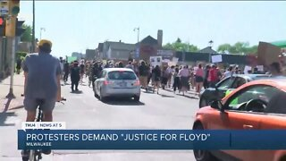 Protesters continue to march through Milwaukee in honor of George Floyd