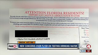 Neighbors raise concerns over water testing flyers
