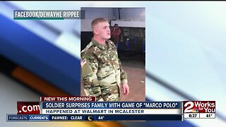 "Soldier surprises family with game of ""Marco Polo"""