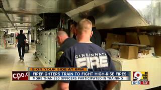Firefighters train in new University of Cincinnati high-rise - Video
