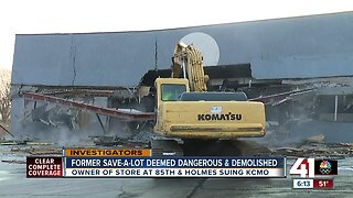 Former south Kansas City Save A Lot grocery store demolished