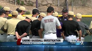Investigation underway into Sabino recruiting violations - Video