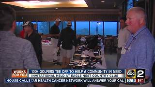 100+ golfers tee off to help a community in need - Video