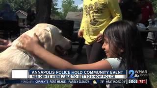 Annapolis Police hold community event - Video