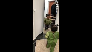 Little Girl Puts On Hulk Costume To Fight Bully