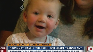 Cincinnati family thankful for heart transplant - Video