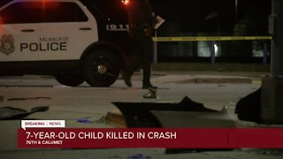 Milwaukee police: 7-year-old girl killed in car crash at 76th and Calumet