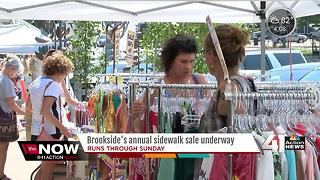 Sidewalk sale takes over Brookside Shopping District - Video