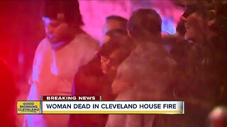 Woman dies after house fire in Cleveland