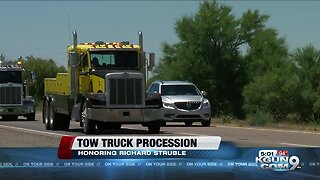 Tow truck procession to honor driver slain