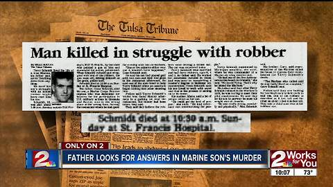 A father missing a piece of his heart after son's 1990 murder turned cold case