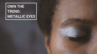 Winter make-up looks: Metallic eyes