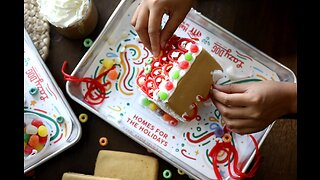 Build a gingerbread house, help build a real house