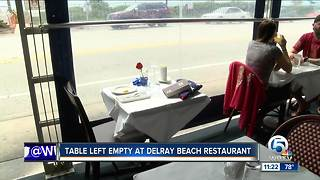Table left empty at Delray Beach restaurant to honor lost soldiers - Video