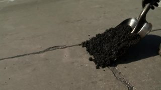 City crews are out filling potholes - Video