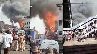 300 huts gutted in massive fire that erupted in slumdog millionaire child actor's slum - Video