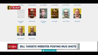 Bill targets websites posting mug shots - Video