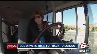 Hamilton Southeastern bus drivers getting ready for school to start and keeping kids safe - Video
