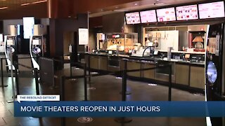Movie theaters reopen in Michigan on Friday