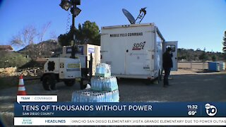 Tens of thousands without power due to SDG&E safety shutoff
